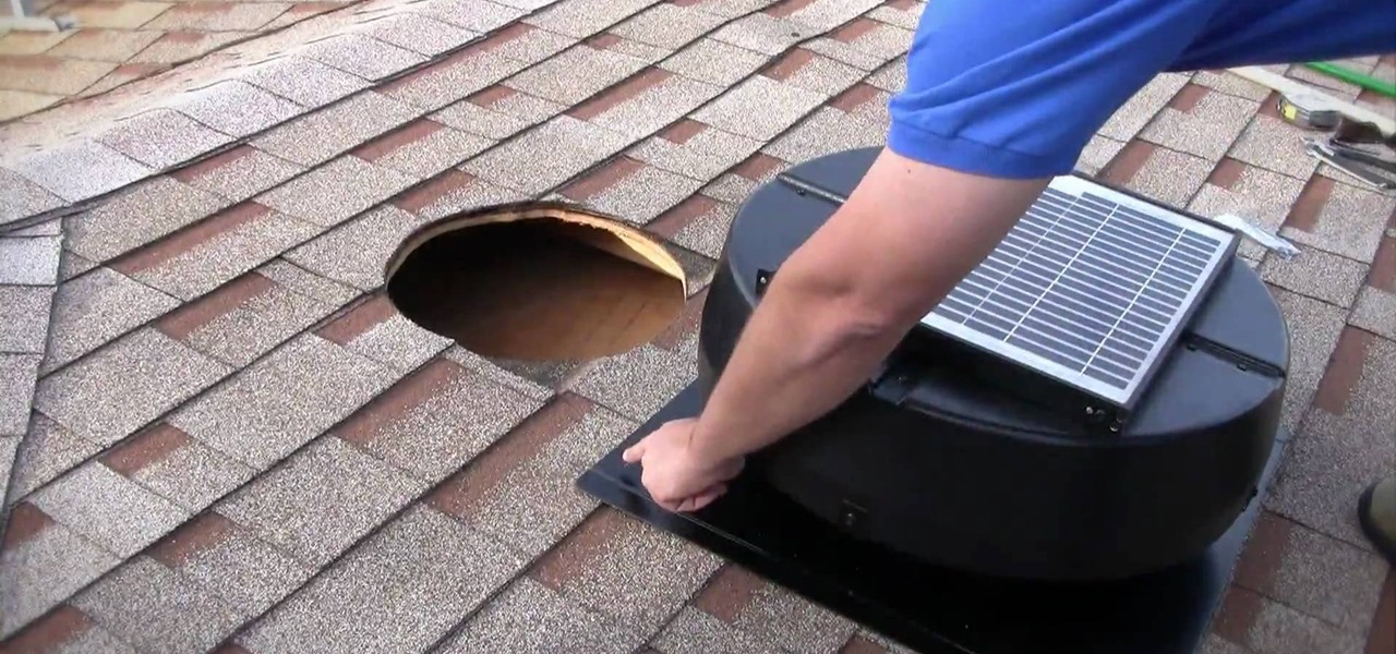 How to install a 1010tr solar powered attic fan in your - Solar powered bathroom exhaust fan ...