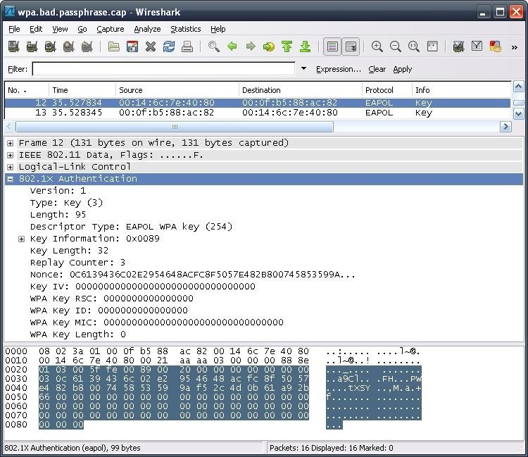 How to Check for a Succesful Capture Using Wireshark (.CAP File)