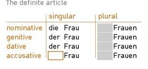 Decline the definite article in German
