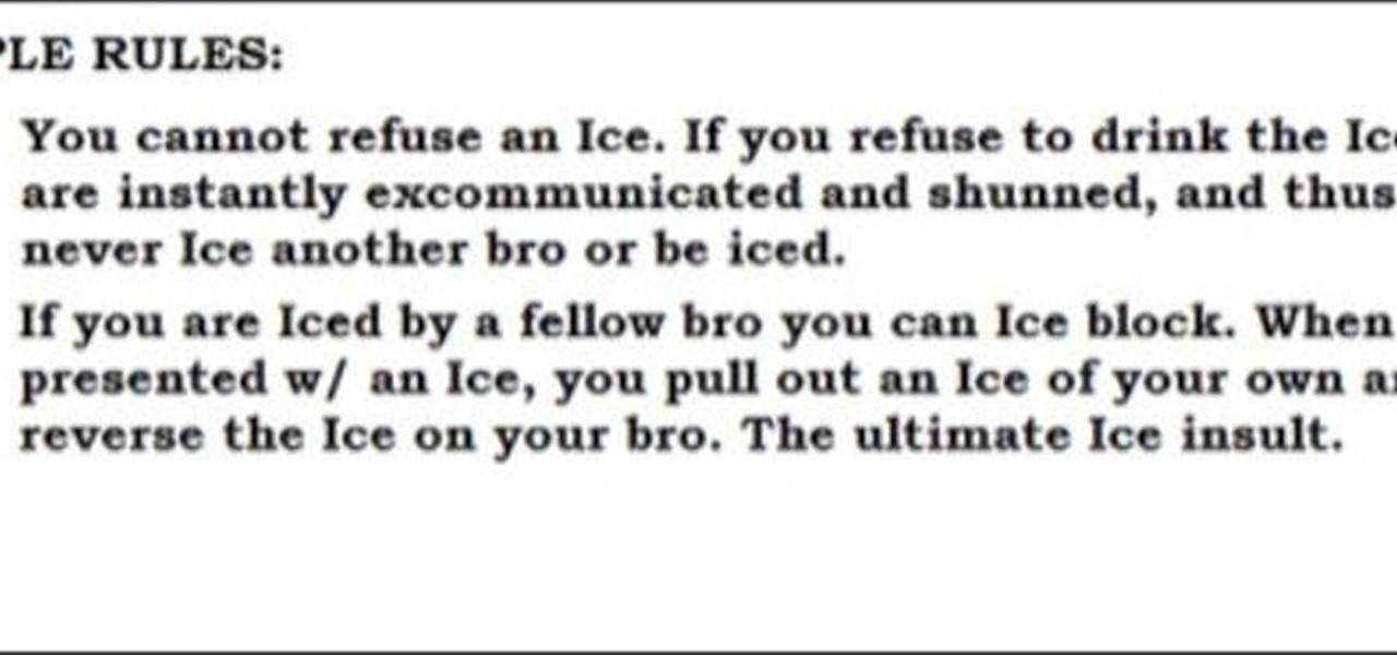 how to play the bros icing bros smirnoff ice drinking game