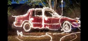 Use long exposure photography to paint with sparklers