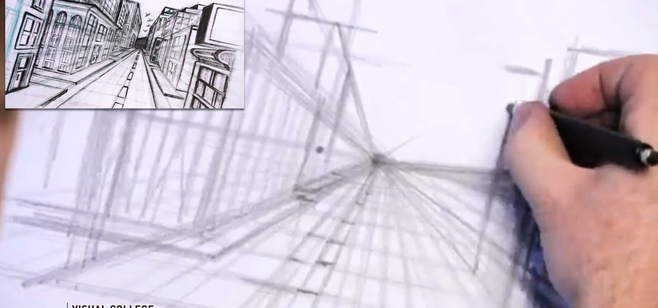 Draw a City in One Point Perspective