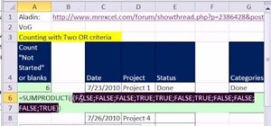 Count with OR criteria in Microsoft Excel 2010