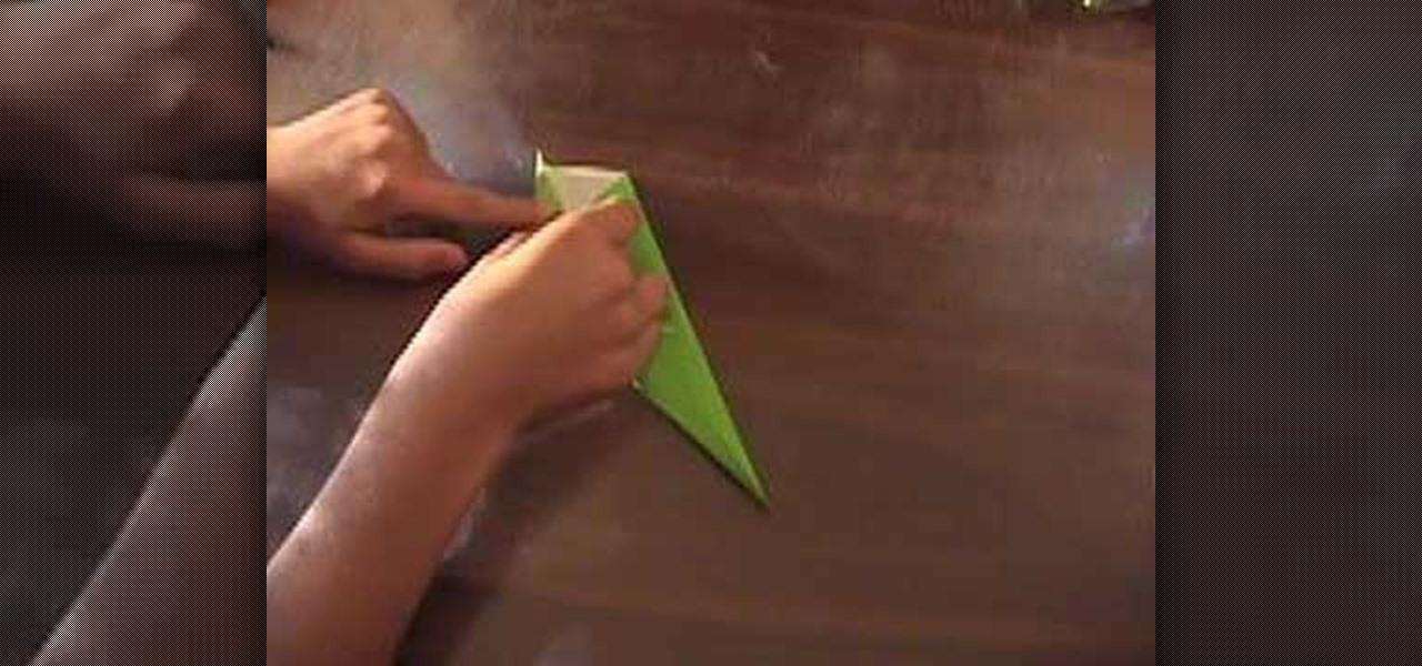 How to origami a leaf and and flower stem origami wonderhowto mightylinksfo