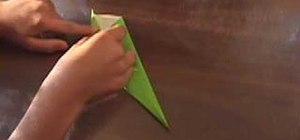Origami a leaf and and flower stem