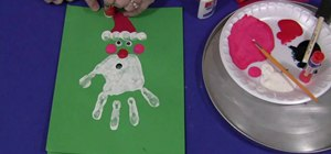 Do a handprint Christmas project with your kids