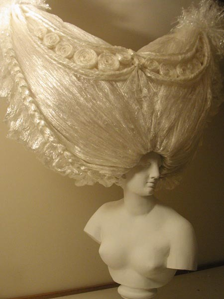 Marie Antoinette Wigs Made With Miles of Plastic Wrap