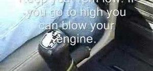 Drive a manual transmission car