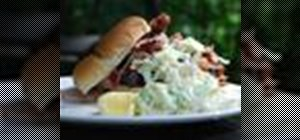 Make a smoked pulled pork sandwich with a great dry rub, marinade & cole slaw