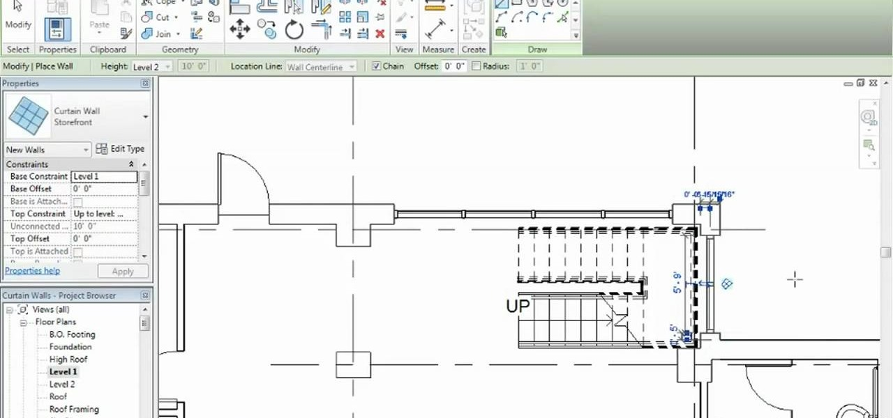 How to Add curtains to a wall in Autodesk Revit Architecture