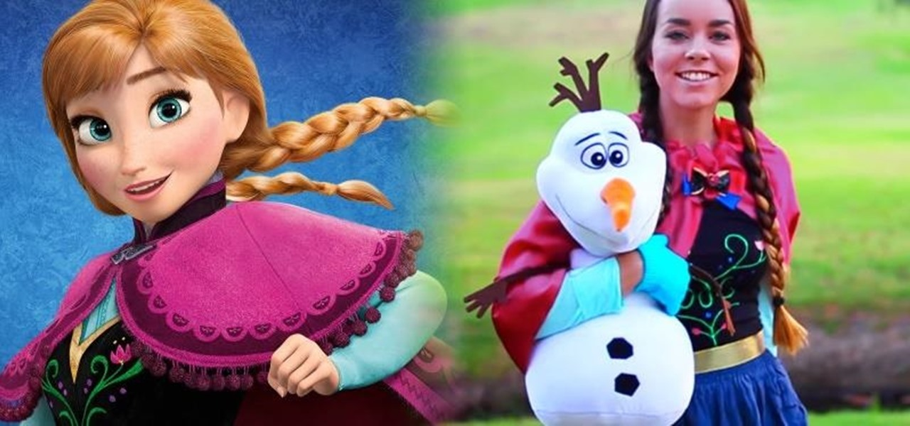 DIY Princess Anna Costume & Makeup from Disney's Frozen