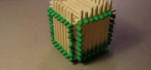 Make a cube out of matchsticks