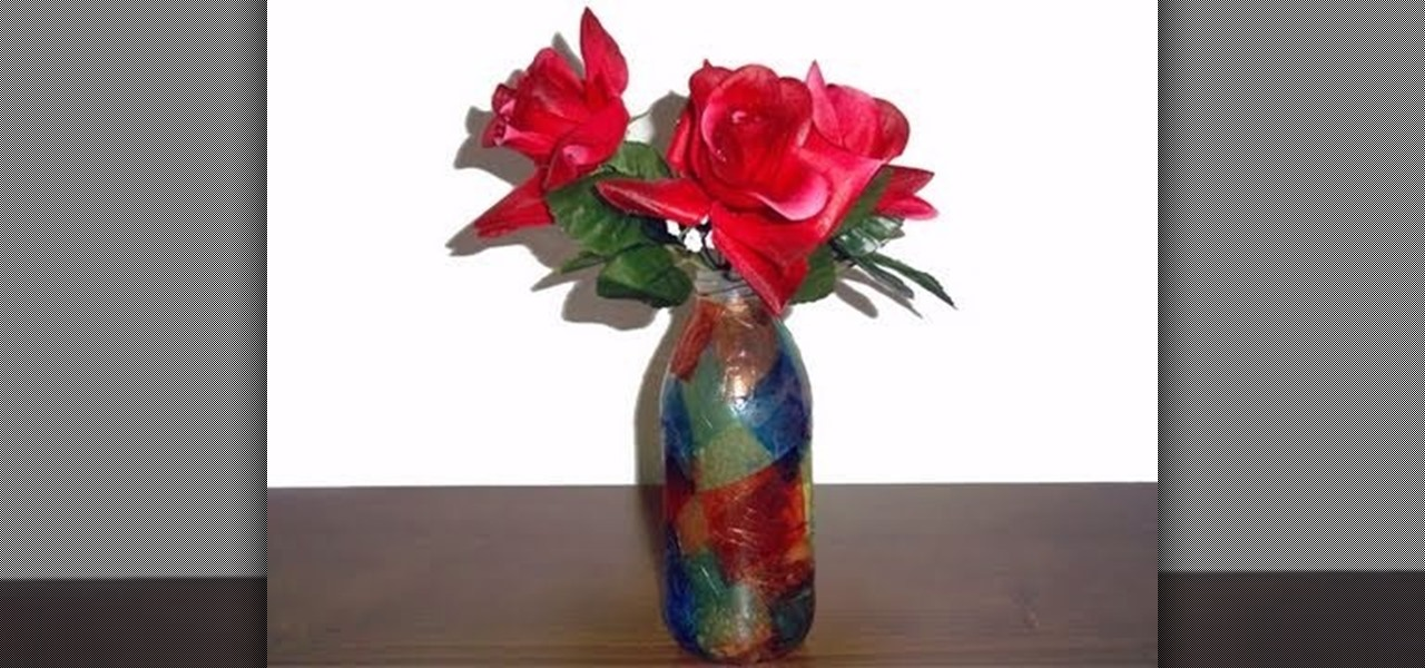 How to Make a recycled flower vase from a glass bottle  Kids Activities ::  WonderHowTo