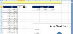 Create a dynamic area chart in Microsoft Excel