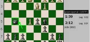 Play a live three minute chess blitz game