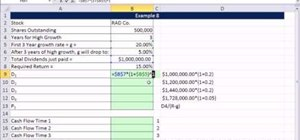 Value a stock with irregular dividend payments in Microsoft Excel