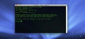 Erase your hard drive from the Mac OS X terminal