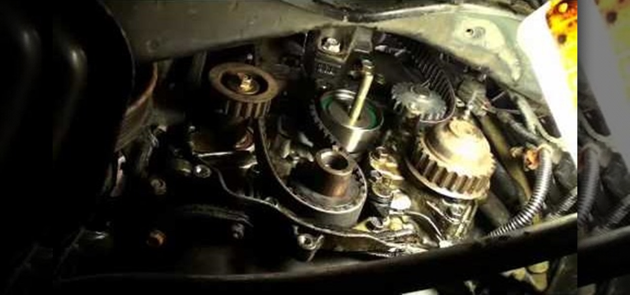 how to replace the timing belt to a 1990