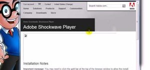 Install Adobe Shockwave in Internet Explorer