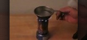 Make a stove for survival training out of a soda can
