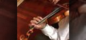 Play a scale in octaves on the violin