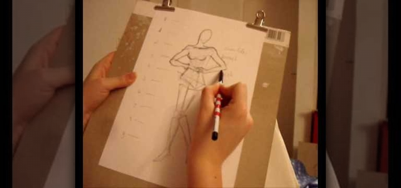 How To Draw Basic Figures For Fashion Design Sketches Fashion Design Wonderhowto