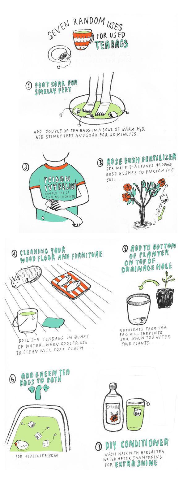 7 random uses for used tea bags the secret yumiverse - Uses for tea bags ...