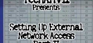 Set up external network access pt.II