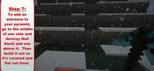 Build a pyramid in Minecraft beta 1.6