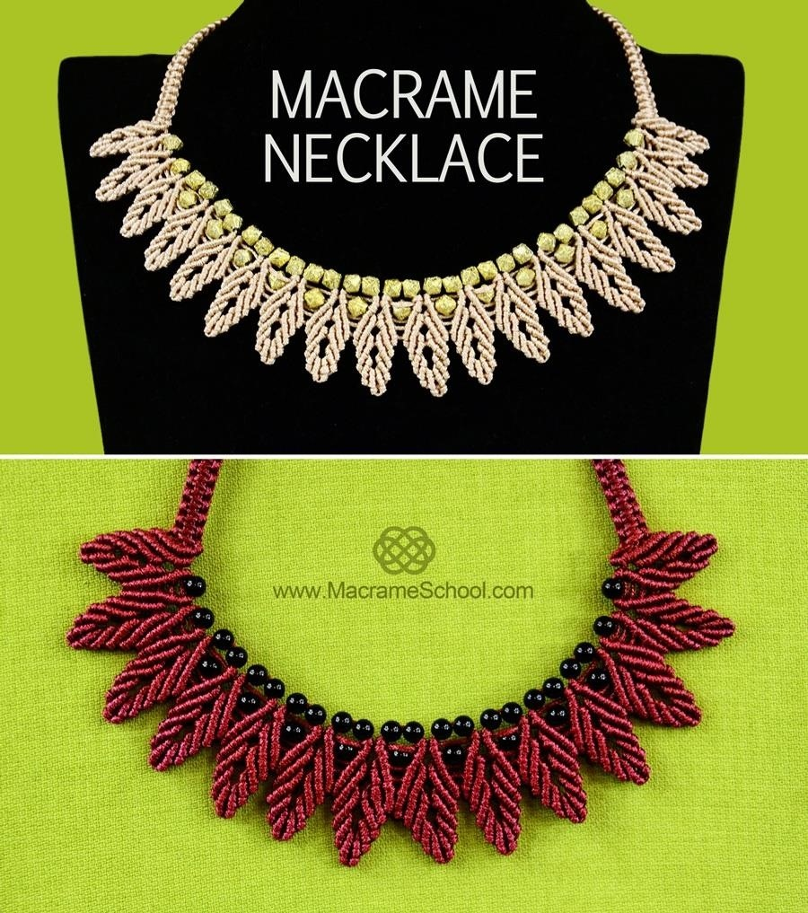 How to Macrame Petal Chain Necklace