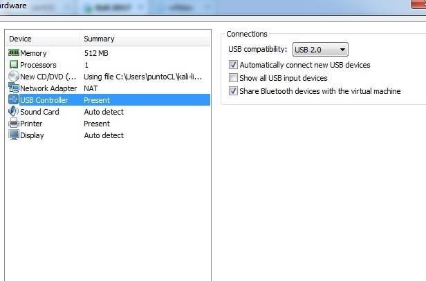 VMWARE - Change NAT a BRIDGED and USB Wireless