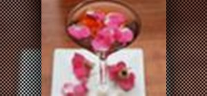 Mix a Serafina Delle Rose cocktail with white vermouth and pomegranate