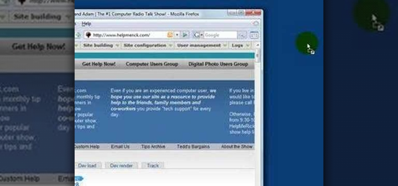How to Create a desktop shortcut to a website in Windows XP