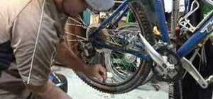 Repair a broken mountain bike chain