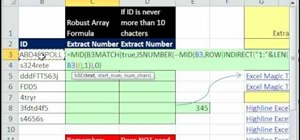 Extract numbers from middle of text in Microsoft Excel