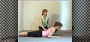 Do the half swan pilates exercise