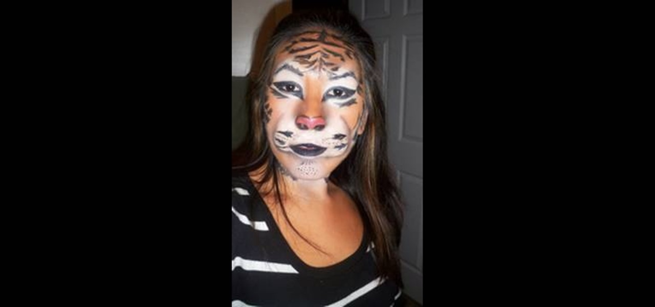 how to apply a tiger mask with makeup for halloween makeup wonderhowto - Tiger For Halloween