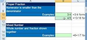 Format proper & improper fractions in Microsoft Excel