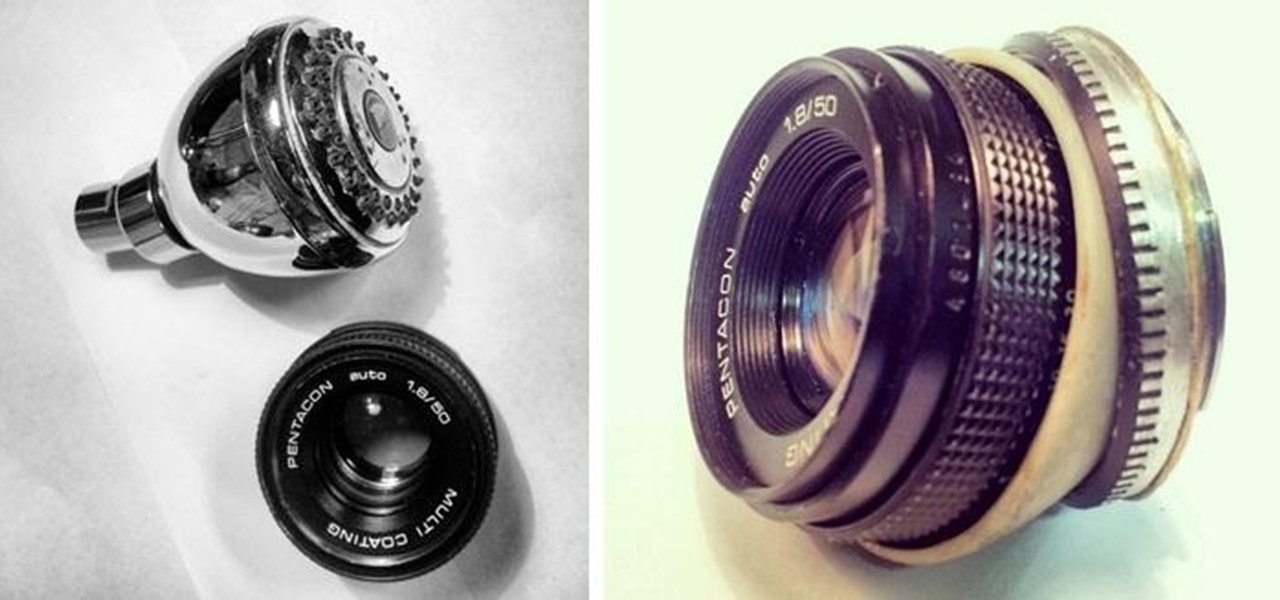 Make a 50mm Lens into a Tilt Lens Using a Shower Head