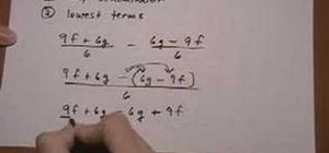 Add/subtract rational expressions w/ same denominators