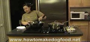 Make a healthy homemade dog food