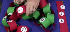 Make a Christmas countdown chain with your kids