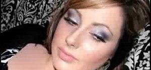 Create a silver and purple eyeshadow look