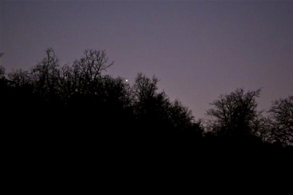 Photos of Mercury and the crescent Moon