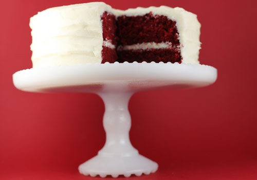 Mmmmm... Deliciously Deep Red Velvet Cake