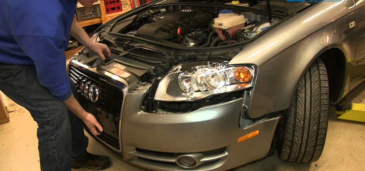 Install Replace Fog Light Assembly 2005-08 Audi A4