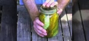 Pickle fresh cucumbers with garlic and vinegar