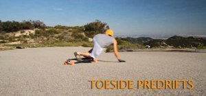 Do a toeside predrift on a longboard downhill run