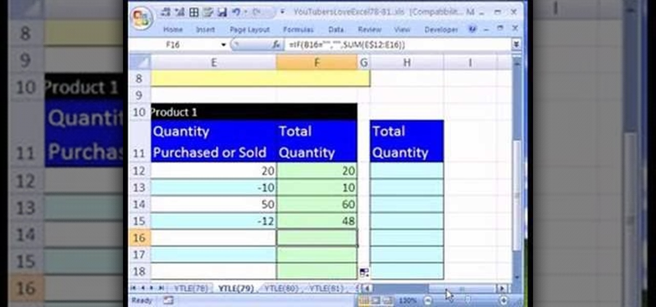 How to Create an Excel inventory template with running totals ...
