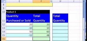Create an Excel inventory template with running totals
